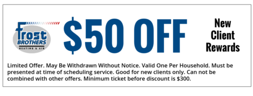 New Client Coupon AC Repair Frost Brothers Heating and Air Conditioning Lewisville TX